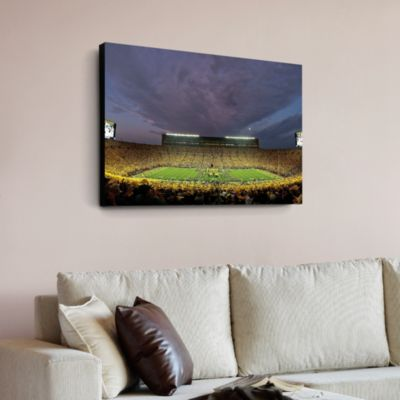 Michigan Wolverines -  Michigan Stadium Night Game Canvas